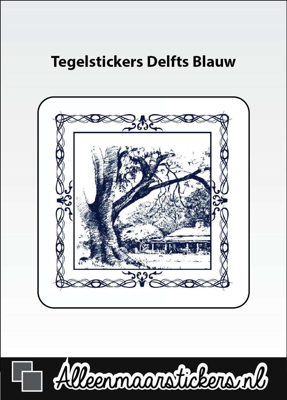 Delfts Blauw Keuken : Bovendien zijn de stickers waterbestendig en kunnen dus ook in bijv