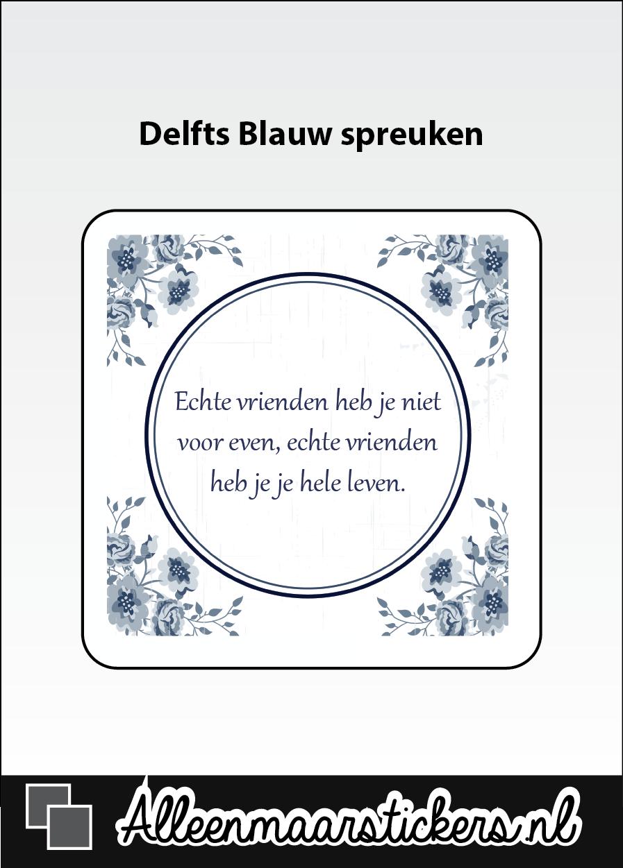 Tegelstickers Delfts Blauw - alleenmaarstickers.nl