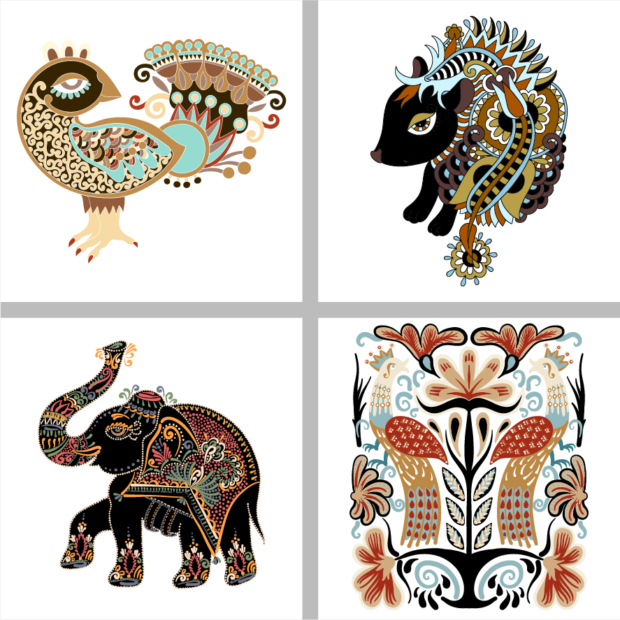 tegelstickerset_ethnic_animals_1_g